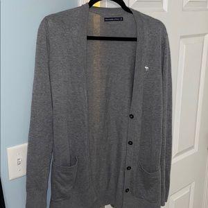 Long button up cardigan